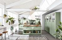 Een kleurrijke groene keuken