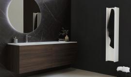 Een stijlvolle zwarte badkamer