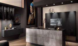 Een stijlvolle zwarte keuken