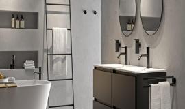 Stoere zwarte badkamer accessoires