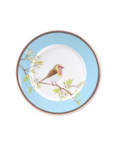 Plate Blue - 21 cm: PIP Ontbijtbord early bird