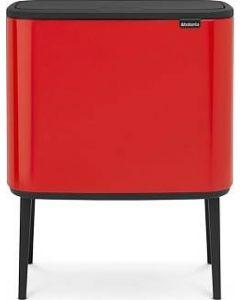 Bo Touch Bin afvalemmer 11 + 23 liter passion red