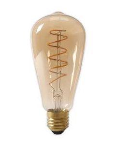 Filament LED Lamp Rustiek Dimbaar Gedraaid 4W Goud