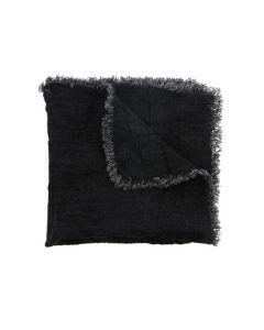 Servet zwart set van 2
