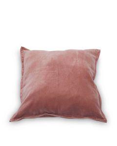 Sierkussen Velvet roze 45x45cm
