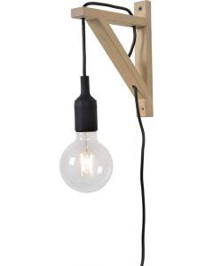 Wandlamp Fix Wall zwart excl. Lichtbron