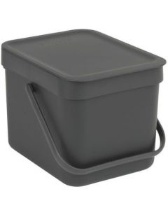Sort & Go afvalemmer 6 liter grey