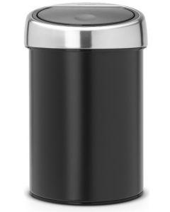 Touch Bin wandafvalemmertje 3 liter matt black