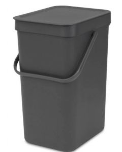 Sort & Go afvalemmer 12 liter grey
