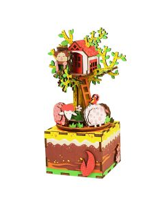 Robotime DIY muziekdoos Tree House