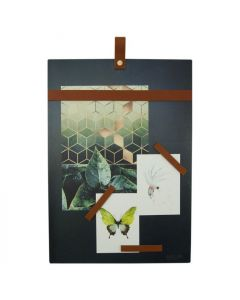 Magneetbord staal cognac