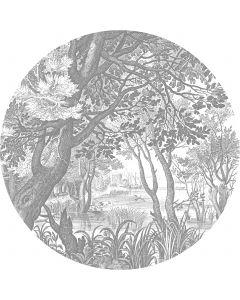 Behangcirkel XL Engraved Landscapes 237.5 cm BC-044