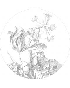 Behangcirkel XL Engraved Flowers 237.5 cm BC-059