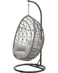 Swing chair egg Panama taupe