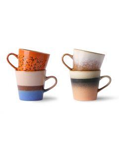 70s ceramics: americano mugs (set van 4)