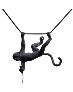 Hanglamp Seletti monkey lampresin zwart