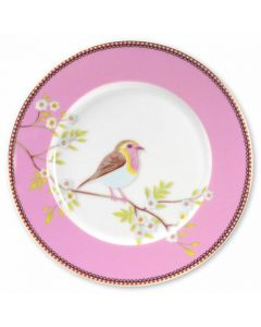 Plate Pink - 21 cm:PIP  Ontbijtbord early bird
