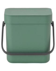 Sort & Go afvalbakje 3 liter fir green