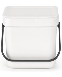 Sort & Go afvalemmer 3 liter white