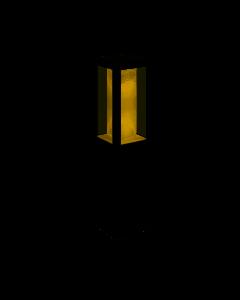 Sokkellamp Impress Hue zwart