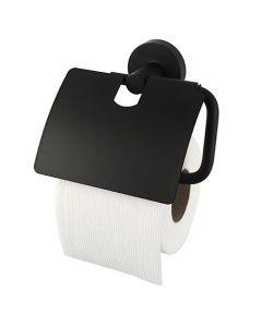 Toiletrolhouder met klep Kosmos zwart