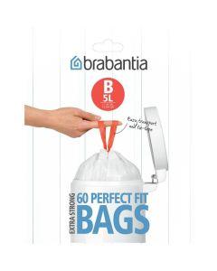 Dispenser pack afvalzak met trekbandsluiting PerfectFit B, 60 stuks