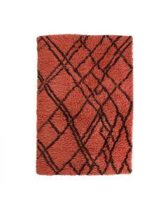 Vloerkleed Berber rood