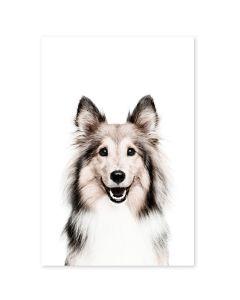 Magneetsticker hond 60x90